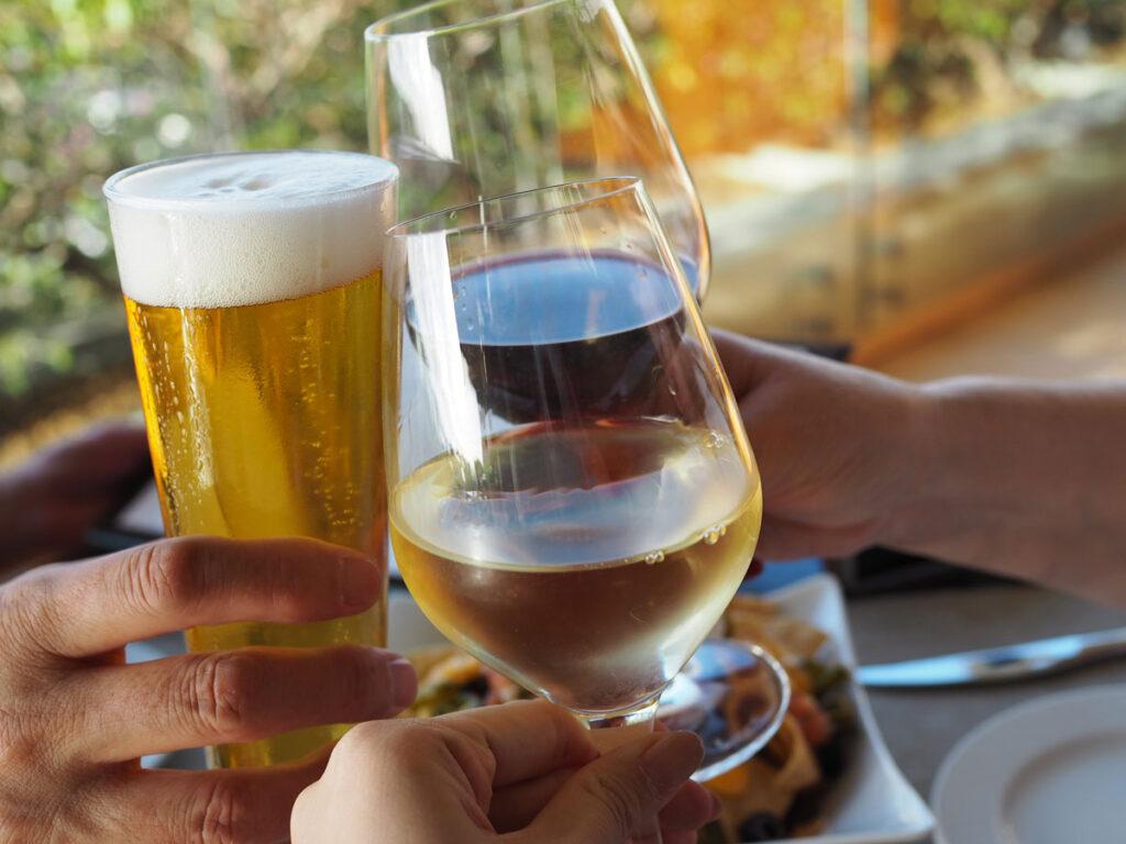 ワイン・ビール・乾杯